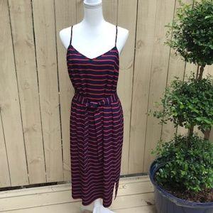 Ann Taylor Blue & Red Slip Dress